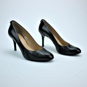 Michael Michael Kors Black Leather Heels Size 8